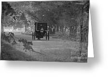 Black And White Buggy Greeting Card