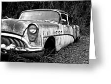 Black And White Buick Greeting Card