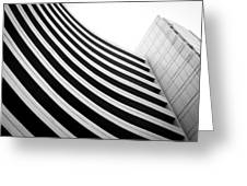 Black And White Building Curve Shape  Greeting Card