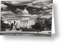 Black And White Capitol Greeting Card