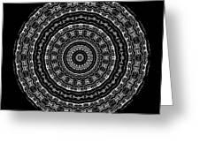 Black And White Mandala No. 3 Greeting Card