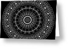 Black And White Mandala No. 4 Greeting Card
