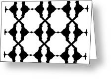 Black And White No.180. Greeting Card