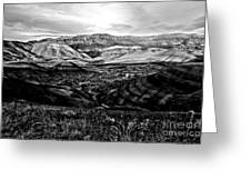 Black And White Painted Hills Greeting Card