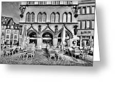 Black And White Patio Greeting Card