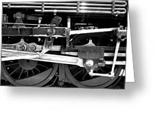 Black And White Steam Engine - Greeting Card Greeting Card