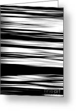 Black And White Striped Wave Pattern Greeting Card