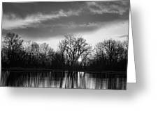 Black And White Sunrise Over Water Greeting Card by James BO  Insogna