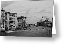 Black And White Venice 3 Greeting Card