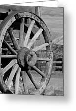 Black And White Wagon Wheel Greeting Card