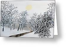 Black And White Woods Greeting Card
