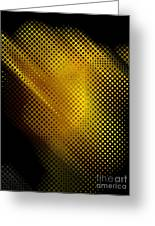 Black And Yellow Abstract II Greeting Card