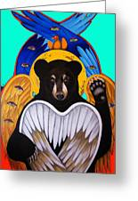 Black Bear Seraphim Photoshop Greeting Card by Christina Miller