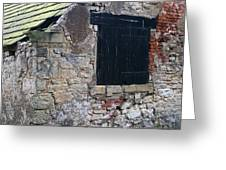 Black Boarded Window Greeting Card