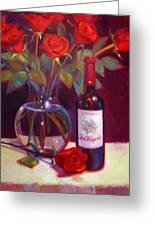 Black Cherry Bouquet Greeting Card