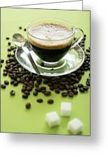 Black Coffee Greeting Card