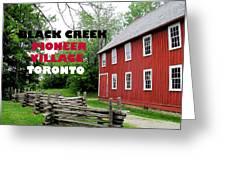 Black Creek Poster Greeting Card