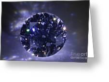 Black Diamond Greeting Card by Atiketta Sangasaeng