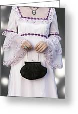 Black Handbag Greeting Card by Joana Kruse
