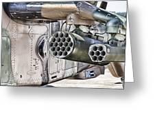 Black Hawk Firepower Greeting Card