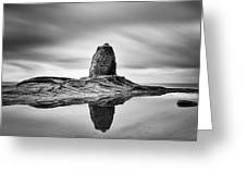 Black Nab Whitby Greeting Card by Ian Barber