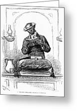 Black Preacher, 1890 Greeting Card