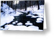 Black River Winter Scenic Greeting Card