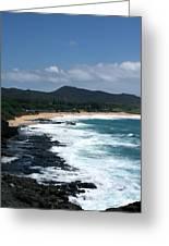 Black Rocks On The Beach Greeting Card