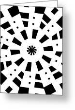 Black Spirale Greeting Card