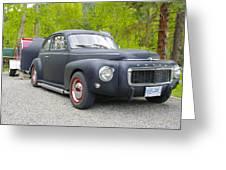 Black Volvo Greeting Card