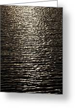 Black Water Greeting Card by Miguel Capelo