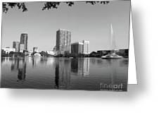 Black White Orlando Greeting Card