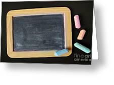 Blackboard Chalk Greeting Card by Carlos Caetano