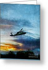 Blackhawk Helicopter Greeting Card