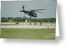 Blackhawk Pulling Pitch Greeting Card