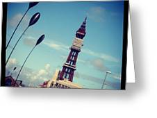 Blackpool Tower Greeting Card by Chris Jones