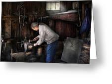 Blacksmith - Tinkering With Metal  Greeting Card