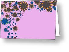 Blades On Purple Greeting Card