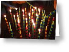 Blazing Amazing Birthday Candles Greeting Card