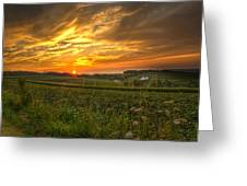 Blazing Countryside Greeting Card
