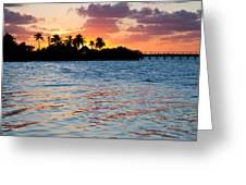 Blazing Skies In Islamorada Greeting Card