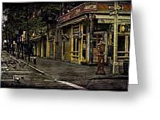 Bleeker Street Seven Am Greeting Card