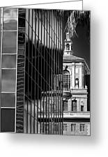 Blending Architecture Black And White Greeting Card