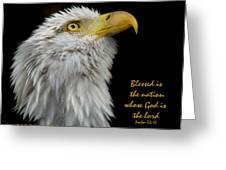 Blessed Is The Nation Greeting Card