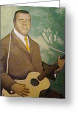 Blind Lemon  Greeting Card by Mark Haley