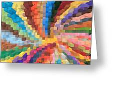 Blocks Of Color From A Pen And Ink Drawing Greeting Card