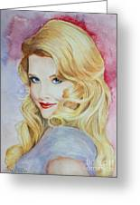 Blond Pinup  Greeting Card by Terri Maddin-Miller