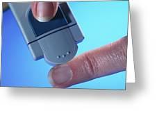 Blood Glucose Testing Greeting Card