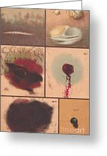 Bloodstain, Blisters, Bullet Holes, 1864 Greeting Card by Science Source