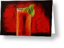 Bloody Mary Coctail Greeting Card